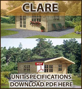Clare Timber House  and Log Cabins Brochure in Dublin and Ireland. We manufacture and fit timber and log cabins in Ireland.