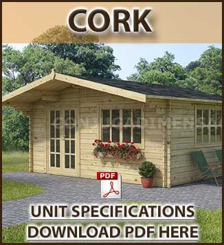 Cork Timber Houses  and Log Cabins Brochure in Dublin and Ireland. We manufacture and fit timber and log cabins in Ireland.