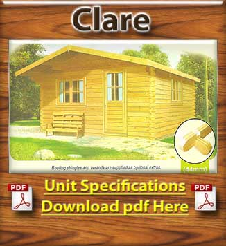Clare Timber House  and Log Cabins Brochure in Dublin and Ireland