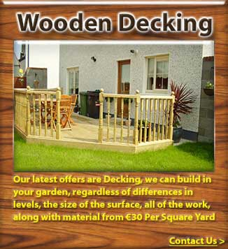 Timber decking and timber garden terraces in dublin meath for Garden decking kildare